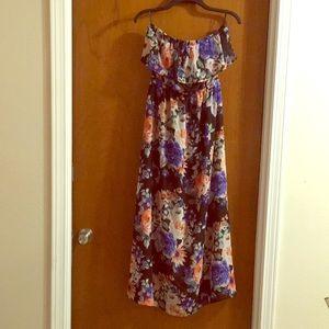 Forever 21 ankle length strapless dress
